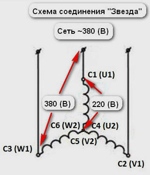 Фазосдвигающий конденсатор для трехфазного двигателя